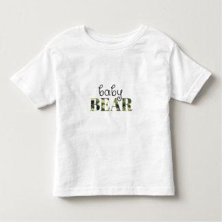 ベビーくま(緑の迷彩柄) (置かれる家族) トドラーTシャツ