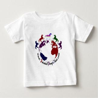 ベビーによって絵を描かれる子馬の雑談のロゴのTシャツ ベビーTシャツ