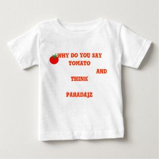 ベビーのためになされるおもしろTシャツ ベビーTシャツ