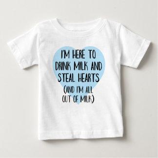 ベビーのためのおもしろいなハートブレーカーのティー ベビーTシャツ