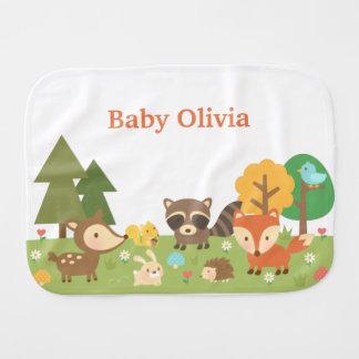 ベビーのためのかわいい森林森林動物 バープクロス