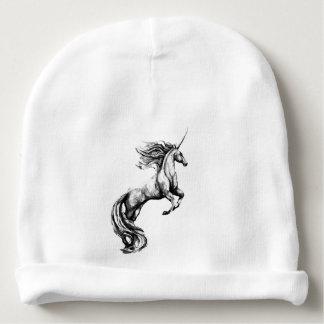 ベビーのためのグレースケールのユニコーンの帽子の帽子 ベビービーニー