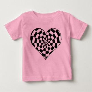 ベビーのためのパンクのファンキーなハート ベビーTシャツ