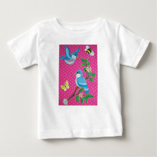 ベビーのためのブルーバードのおとぎ話のヴィンテージの一見のTシャツ ベビーTシャツ