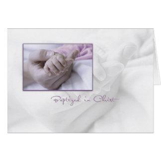 ベビーのための女の子の洗礼のお祝いカード グリーティングカード