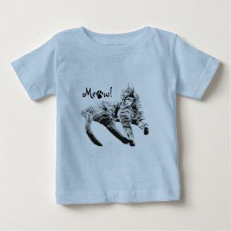 ベビーのための猫の鳴き声の衣服 ベビーTシャツ