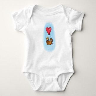 """ベビーのための""""気球乗車""""のLionel及び優美のワイシャツ ベビーボディスーツ"""