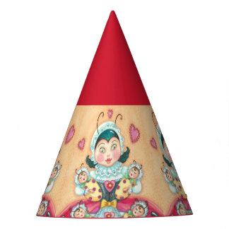 ベビーのてんとう虫家族のパーティーの帽子*カスタマイズ パーティーハット