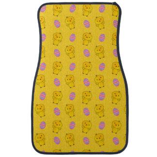 ベビーのひよこのイースターかわいく黄色いパターン カーマット