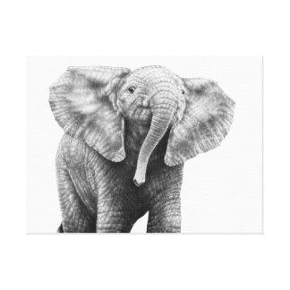 ベビーのアフリカゾウのキャンバスのプリント キャンバスプリント