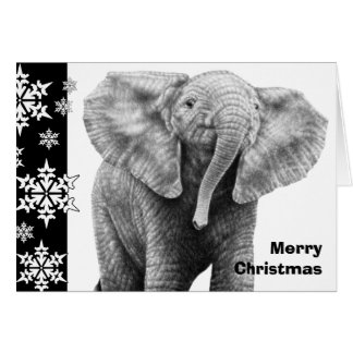 ベビーのアフリカゾウのクリスマスカード カード