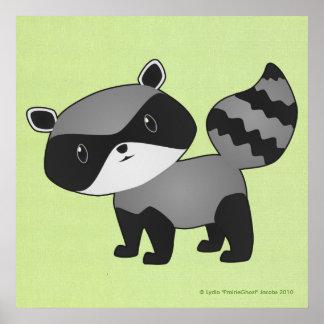 ベビーのアライグマのプリント ポスター