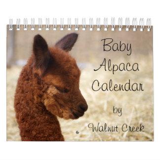 ベビーのアルパカのカレンダー2018年 カレンダー