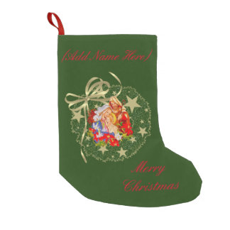 ベビーのイエス・キリストのカスタマイズ可能なストッキング スモールクリスマスストッキング
