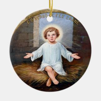 ベビーのイエス・キリストの装飾的なアートワーク セラミックオーナメント