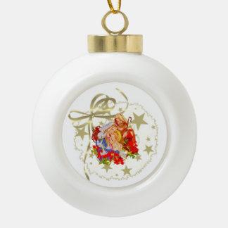 ベビーのイエス・キリストの陶磁器の球の木の装飾 セラミックボールオーナメント