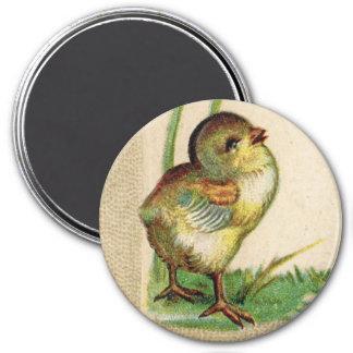 ベビーのイースター旧式なひよこの円形の磁石 マグネット