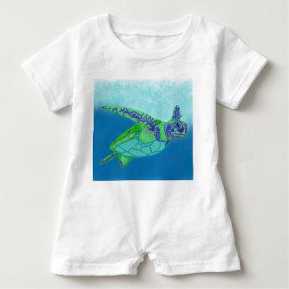 ベビーのウミガメのロンパース ベビーロンパース