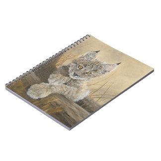 ベビーのオオヤマネコのノート ノートブック