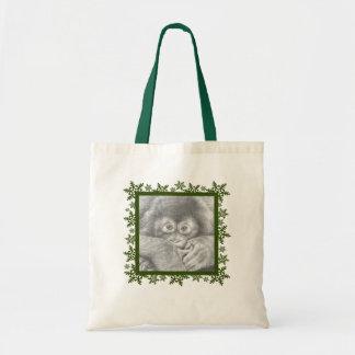 ベビーのオランウータンのクリスマスの雪片のバッグ トートバッグ