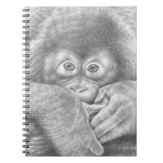 ベビーのオランウータンのノート ノートブック