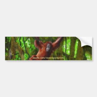ベビーのオランウータン及び雨林の霊長目のバンパーステッカー バンパーステッカー
