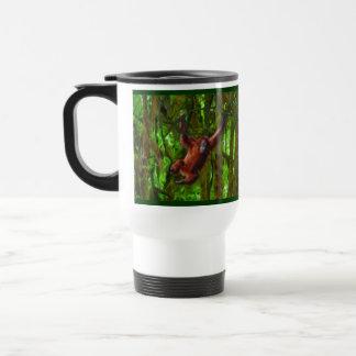 ベビーのオランウータン及び雨林の霊長目の芸術のタンブラー トラベルマグ