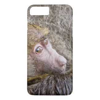 ベビーのオリーブ色のヒヒ(Papio Anubis)のポートレート iPhone 8 Plus/7 Plusケース