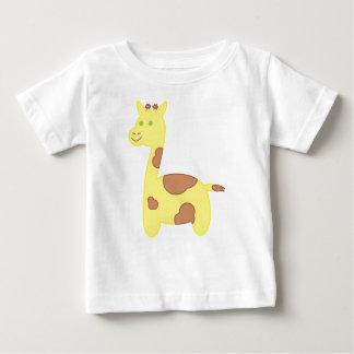 ベビーのキリンのイラストレーション ベビーTシャツ