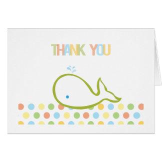 ベビーのクジラのサンキューカード カード