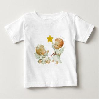 ベビーのクリスマスの天使 ベビーTシャツ