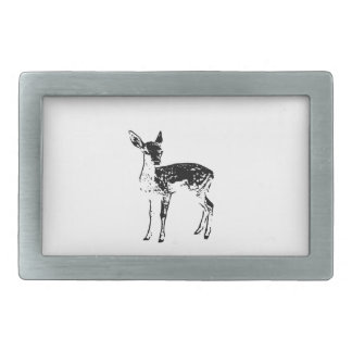 ベビーのシカ-子鹿 長方形ベルトバックル