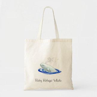ベビーのシロイルカのクジラのトート トートバッグ