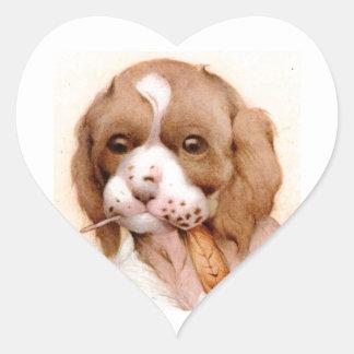 ベビーのスパニエル犬-すごいかわいい! ハートシール
