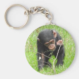 ベビーのチンパンジーのキーホルダー キーホルダー