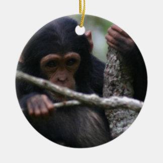 ベビーのチンパンジー セラミックオーナメント