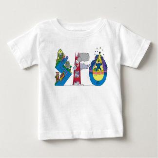 ベビーのティー|サンフランシスコ、カリフォルニア(SFO) ベビーTシャツ