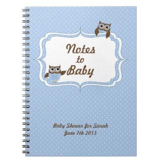 ベビーのノートへのかわいいフクロウのベビーシャワーのノート ノートブック