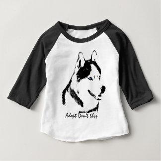 ベビーのハスキーなワイシャツのそり犬のベビーの野球ジャージー ベビーTシャツ