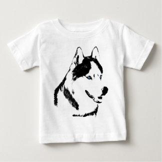 ベビーのハスキーなワイシャツのそり犬の幼児のハスキーのTシャツ ベビーTシャツ