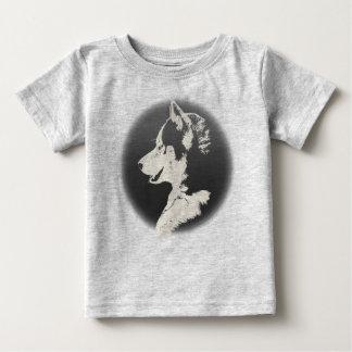 ベビーのハスキーなワイシャツの幼児のそり犬のハスキーのワイシャツ ベビーTシャツ