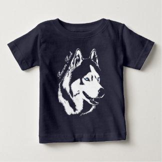 ベビーのハスキーなTシャツのそり犬の子犬のワイシャツはカスタマイズ ベビーTシャツ