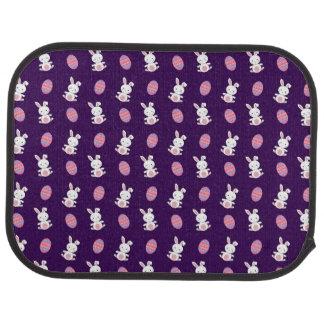 ベビーのバニーのイースターかわいい紫色のパターン カーマット