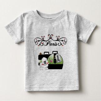 ベビーのパリのTシャツ ベビーTシャツ