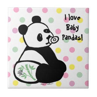 ベビーのパンダの漫画 タイル