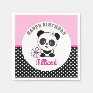 ベビーのパンダの誕生日 スタンダードカクテルナプキン