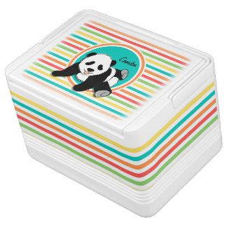 ベビーのパンダ; 明るい虹は縞で飾ります クーラーバスケット