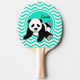 ベビーのパンダ; 水緑のシェブロン 卓球ラケット