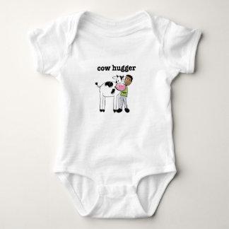 ベビーのビーガンのTシャツ-牛Hugger ベビーボディスーツ