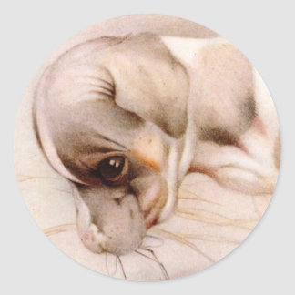 ベビーのフォックステリア犬-すごいかわいい! ラウンドシール